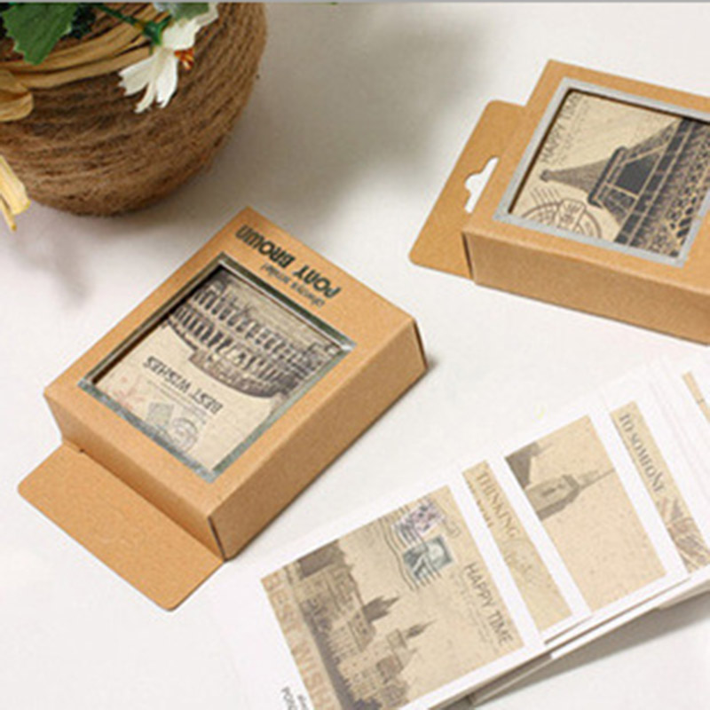 40pcs/lot Mini Vintage Retro Scenery PostCards Lomo Post Greeting Cards for Kids Gifts Student 652