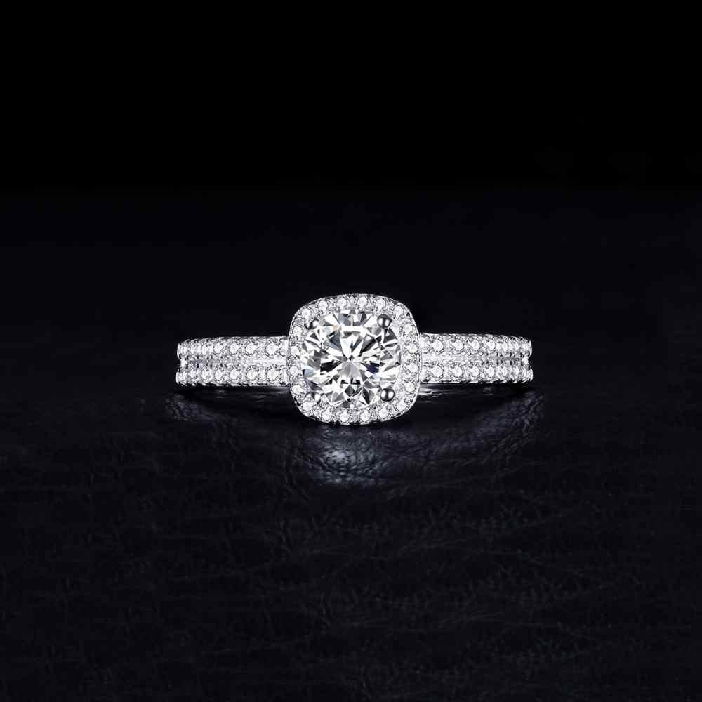 JewelryPalace 1ct CZ แหวนหมั้นแหวน 925 เงินสเตอร์ลิงแหวนเงินผู้หญิงแหวนแหวนเงิน 925 เครื่องประดับ