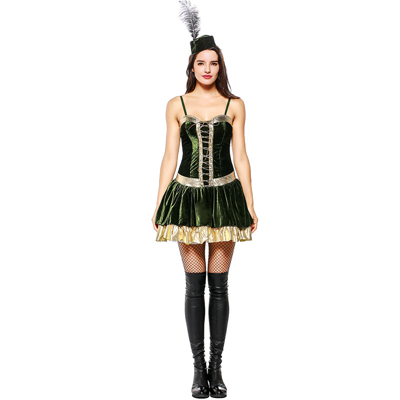 Forest Outlaws Luo Hanbin Women's Costume Halloween Party Fancy Dress Gothic Club Dress