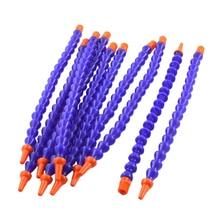 10 ШТ. Круглый Насадка 1/4PT Гибкая Нефть Трубка Охлаждающей Жидкости Шланг Blue Orange
