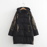 plus size Women Parkas 2018New Winter thick Jackets hood with fake fur classic contrast moss plus size 3XL 6XL outerwear