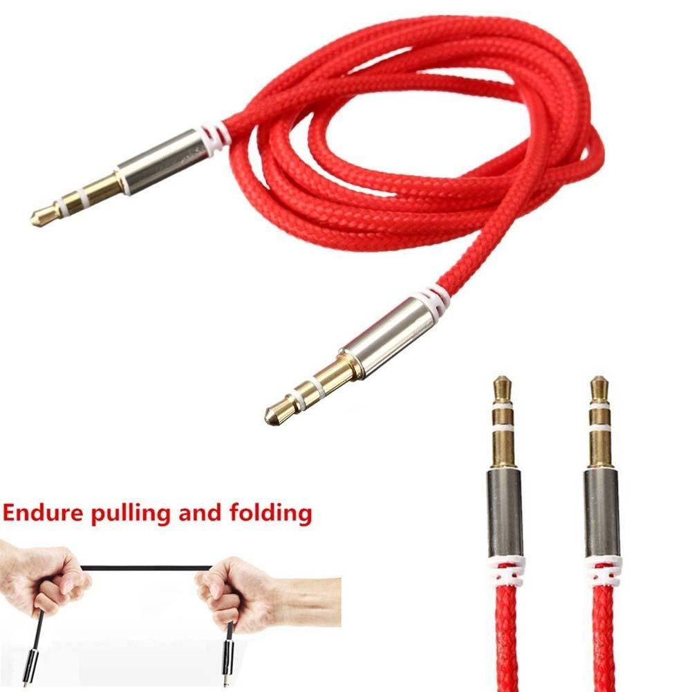 35mm Jack To Car Aux Auxiliary Cord Stereo Audio Cable For 3 5 Mm Wiring Wire Phone R Pc Connector In Mobile Cables From