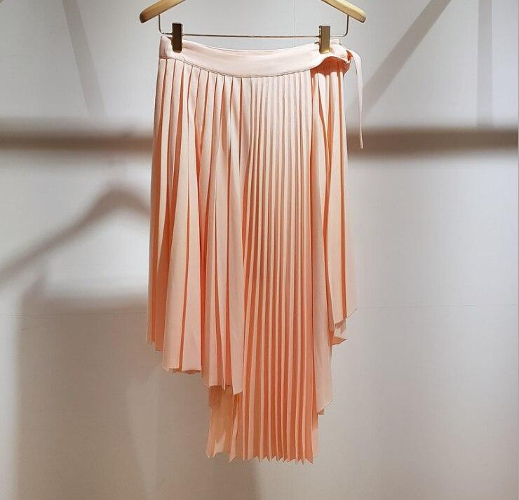 2018 faldas plisadas asimétricas 2 colores wh180938-in Faldas from Ropa de mujer    1
