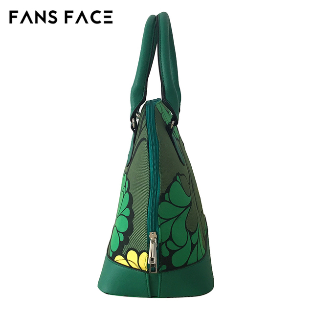 FANS FACE Fresh Summer Style Fashion African Print Green Handbag Female 2017 Luxury Handbags Women Bags Designer 30*16*41cm 5