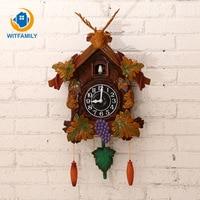 Hanging Cuckoo Clock Antique Handcraft Pendulum Clock 20inch Vintage Bird Wall Clock for Living Room Office Home Decoration