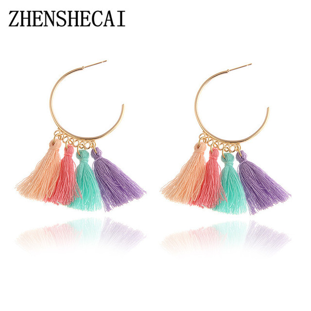 3 Colors Fashion Jewelry Tassel Earrings Wedding Bohemian Drop
