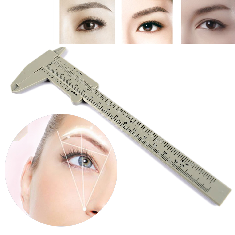 1Pcs White Plastic Tattoo Eyebrow Ruler Tools Bar Measure Tool Permanent Makeup Accessories Tattoo Supplies Equipment