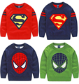 New Girl and Boy Pullover knitted sweaters Kids sweater for girls children's boys winter clothes Red pull garcon enfant fille