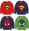 Nueva niña y niño jersey de punto suéter suéter de los cabritos para niños de las muchachas de los muchachos del invierno del tirón rojo garcon enfant fille