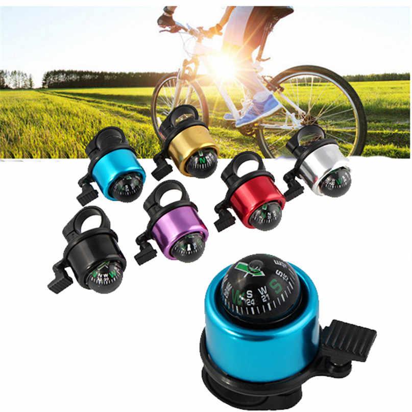 人気バイクコンパスアルミサイクリングスポーツハンドルコンパスリングダウンホーン安全バイクスポーツ自転車アクセサリー #2a23