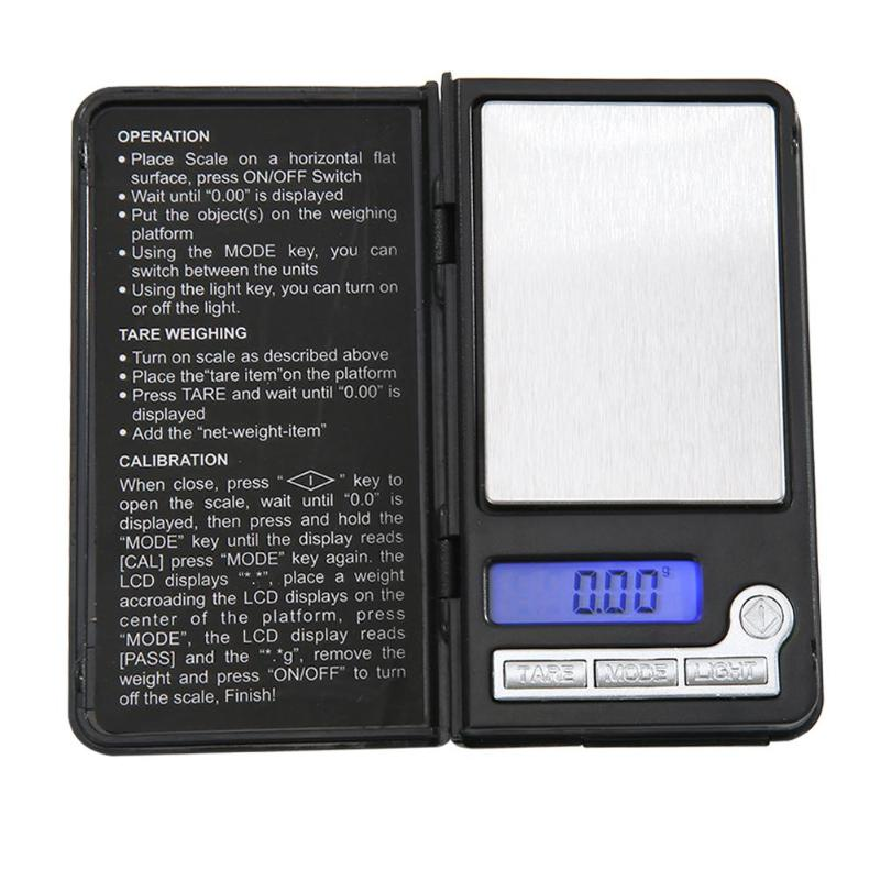 Mini Portable LCD Display Digital Kitchen Scales 100g 0.01g Precision Electric Jewelry Kitchen Gram Weight Balance