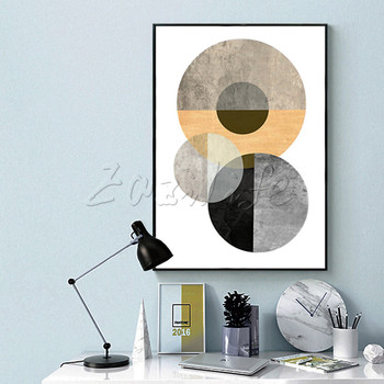 Poster and print geometry dot,Nordic modern abstract watercolor  ,wall pictures for living room home decor ,cuadros art wall