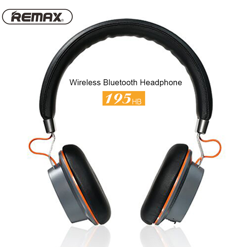 Remax 195HB Wireless Headphones Bluetooth Stereo Hands Free Headset headphone with 3.5mm jack microphone cable for Iphone Xiaomi kanen stereo headphone w microphone red black 3 5mm jack 210cm length