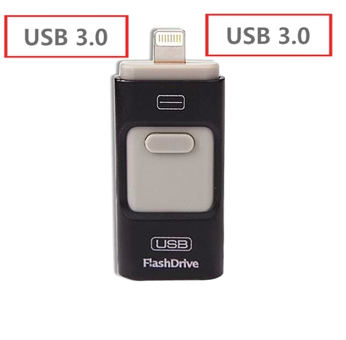 New OTG USB Flash Drive 64GB pendrive 128/256/512GB Metal Pen Drive for iphone/ipod/ipad/PC Memory usb stick 3.0 Free Shipping