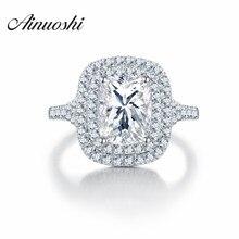 คุณภาพสูง SONA กะรัตแหวนหมั้นผู้หญิงใหญ่แหวนครบรอบ Amazing