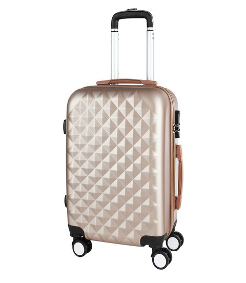 Stylish beige PROFFI TRAVEL PH8368beige, M, medium plastic with retractable handle with combination lock fashionable suitcase with print proffi travel ph9209 m plastic medium with combination lock