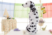 large 60cm 3D dimensional Dalmatian plush toy printing design soft dog doll hug pillow Christmas gift s2569