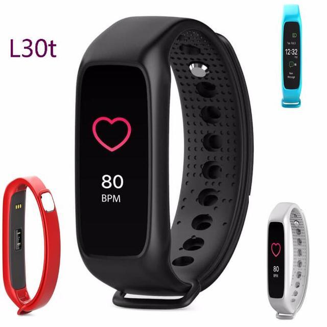 Original l30t inteligente bluetooth banda dinámica smartband heart rate monitor color tft-lcd de pantalla completa para apple ios smartphone