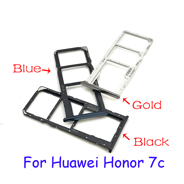 Nouveaux accessoires dadaptateur de support de fente de plateau de carte SIM pour Huawei Honor 7A 7C P pièces de rechange intelligentes