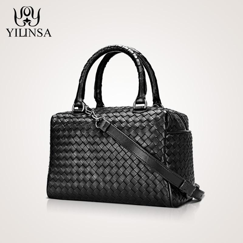 Sacs à main de luxe femmes sacs Designer 100% peau de mouton en cuir véritable Corssbody tissé à la main doux grande capacité sacs à main