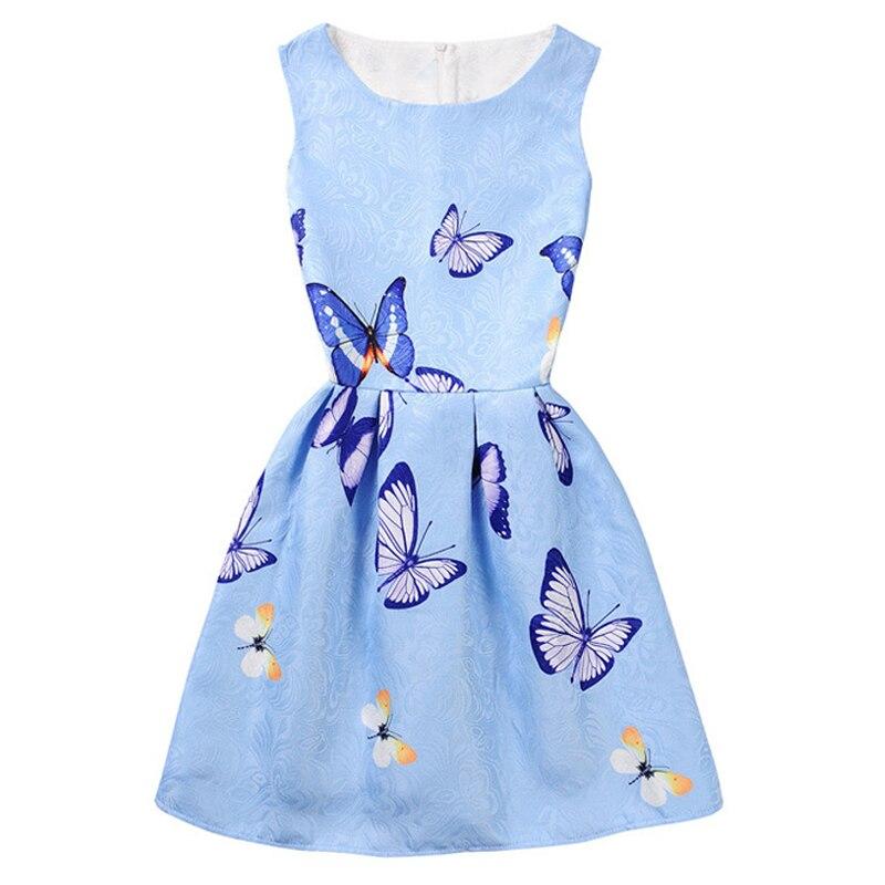 2018 Filles D'été Robes Papillon Fleur Robe pour Filles Adolescents Princesse Robe Élégante De Mariage Robes Enfants Vêtements