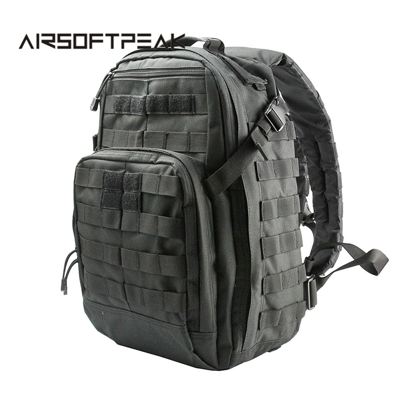 AIRSOFTPEAK Tactical Backpack Molle Military Bag 40L Large Nylon Outdoor Sports Bags Travel Camping Hiking Hunting Backpack molle tactical military hunting usmc army molle hiking hunting camping rifle backpack bag high density nylon backpack