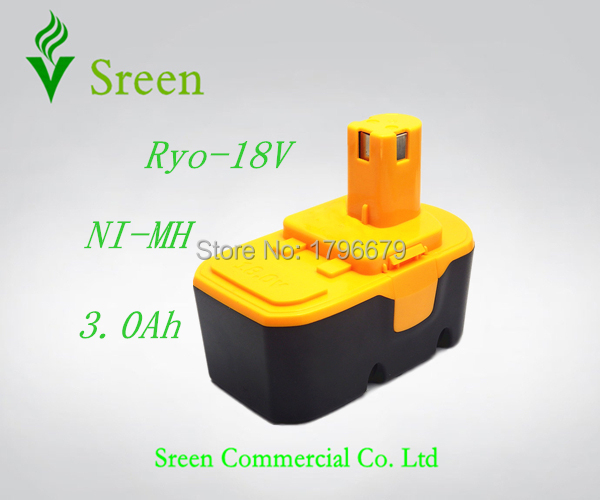 New Rechargeable 18V NI-MH 3.0Ah Replacement Battery Packs for Ryobi Power Tool Battery ABP1801 ABP1803 BPP-1813 BPP-1815  P100