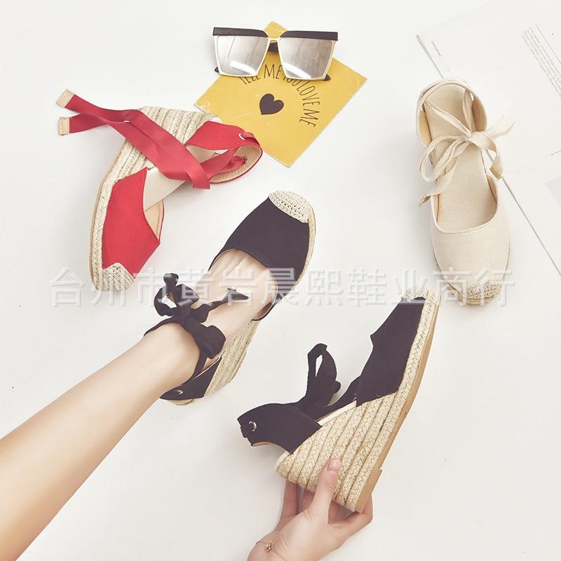 HTB1G2jPNbPpK1RjSZFFq6y5PpXaN Women's Espadrille Ankle Strap Sandals Comfortable Slippers Ladies Womens Casual Shoes Breathable Flax Hemp Canvas Pumps