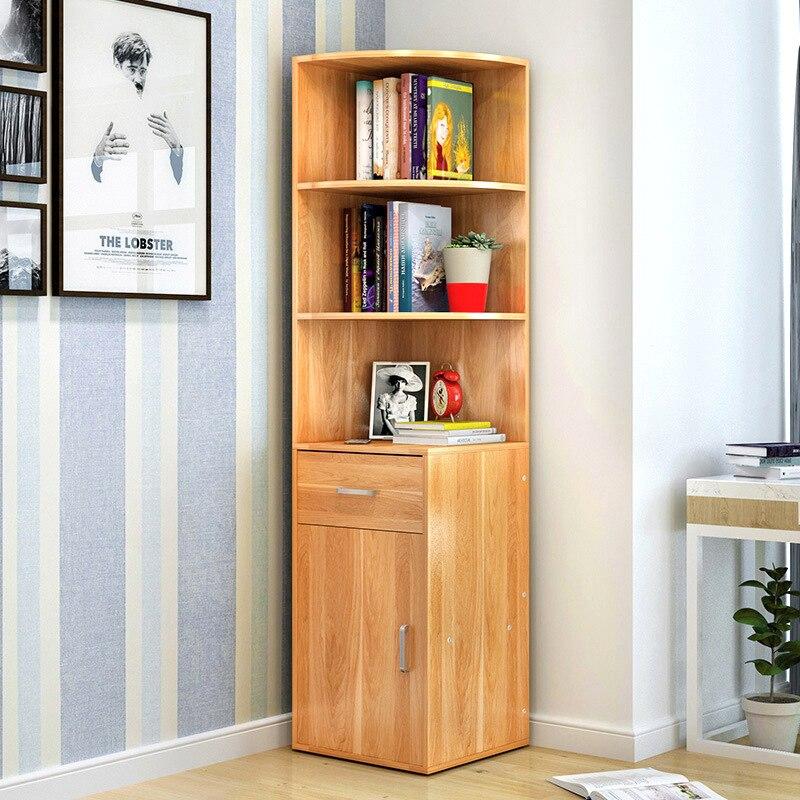 LK1683 Simple Bibliothèque En Bois Creative Multifonction Rack De Stockage Grande Capacité De Stockage Armoire meubles de Maison