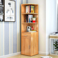 LK1683 Simple Wooden Bookcase Creative Multifunction Storage Rack Large Capacity Storage Cabinet Home furniture