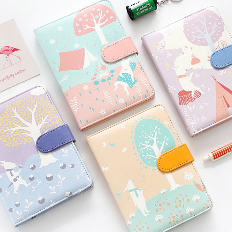 PU leather Cute Tree Notebook Planner Book Diary Filofax Planner Agenda Organizer Best Gift Stationary машинка для стрижки волос sakura sa 5100r