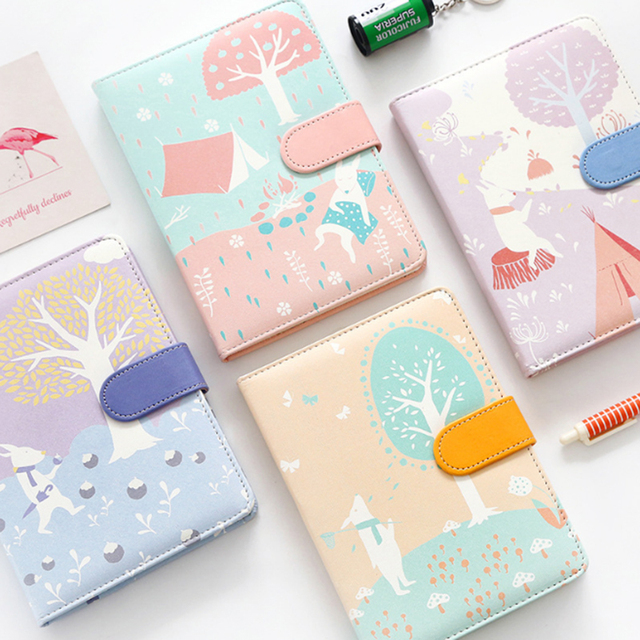 pu leather cute tree notebook planner book diary filofax planner agenda organizer best gift stationary