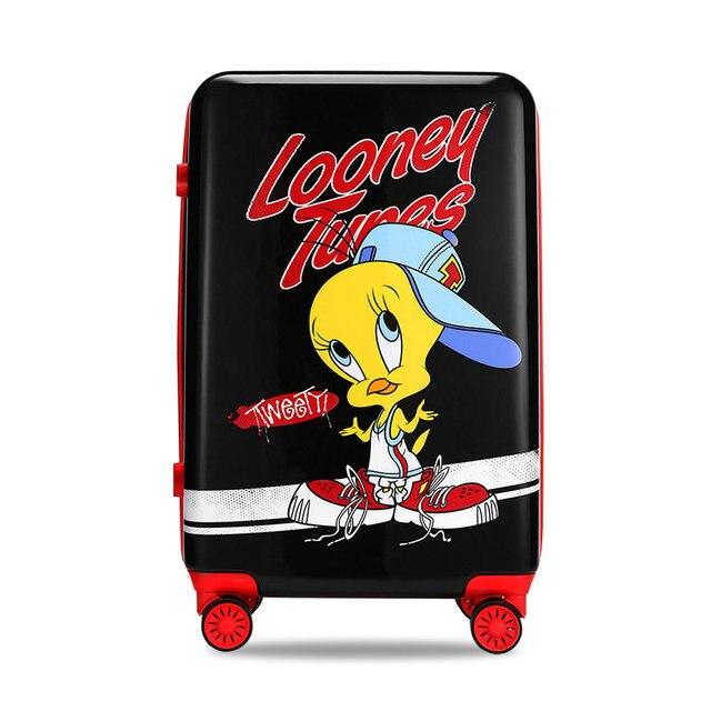 5dc290dec Looney Tunes Serie de Dibujos Animados Hombres y Mujeres Lindo Maleta del  Viaje del Equipaje PC