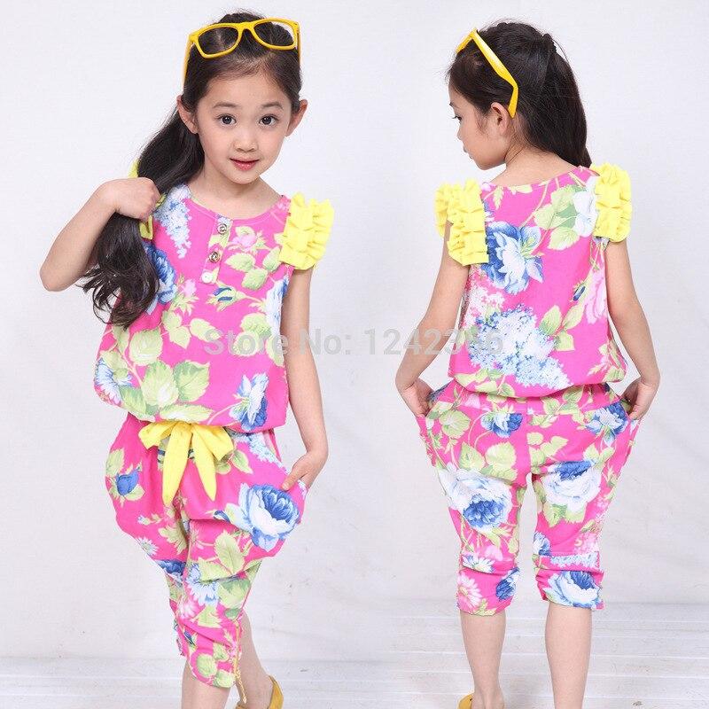 2015 New Style Baby Kids Girls Clothing Set Girl Dress