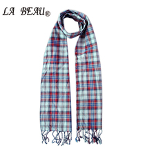 Men Women Scarf Plaid Cotton Scarf Women Plaid Winter Plain Cotton Scarf Double Deck Classic Grid