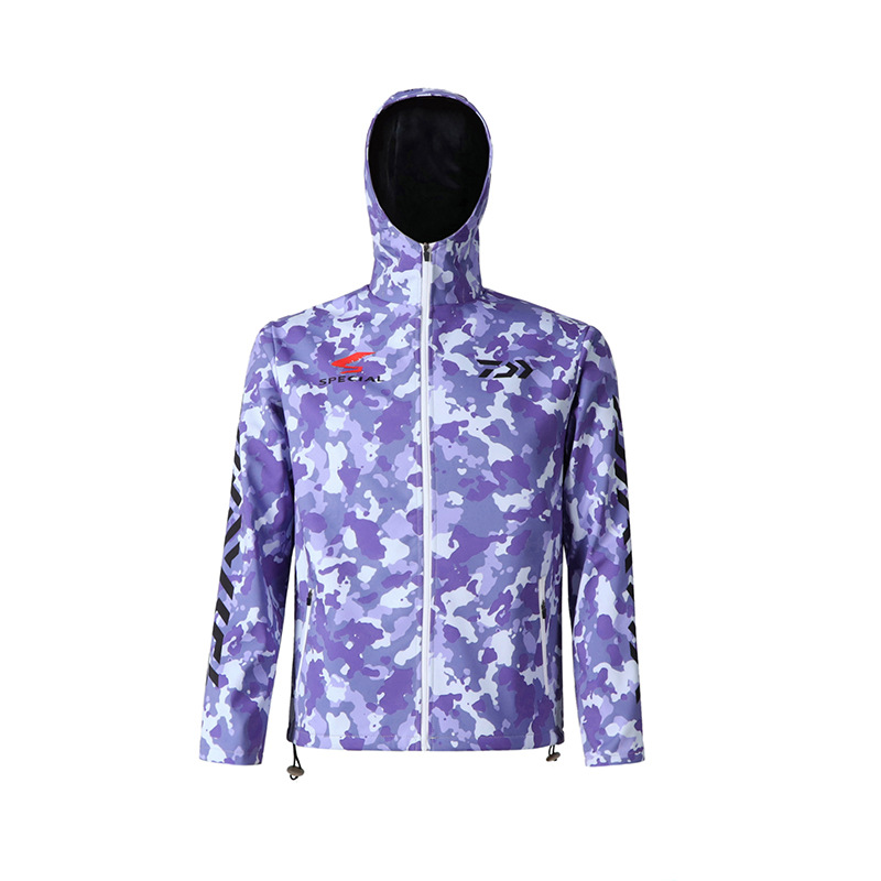 Daiwa Dawa fishing suit sun protection clothing men Winter plus velvet waterproof fishing keep warm Camouflage plus size  jacket