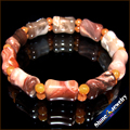 Wholesale NATURAL PICASSO JASPER red Aventurine STONE BEAD BRACELET STRETCH BANGLE 1pcs  Free shipping
