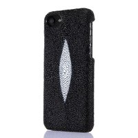 20pcs DHL Genuine Leather Pearl Fish Skin Case For IPhone 7 7 Plus Real Natural