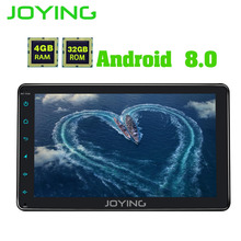 Joying 4GB RAM OCTA CORE 8″ android 8.0 Auto Radio Stereo 1 Din Car Multimedia Player GPS Car Radio Head Unit tape recorder HU