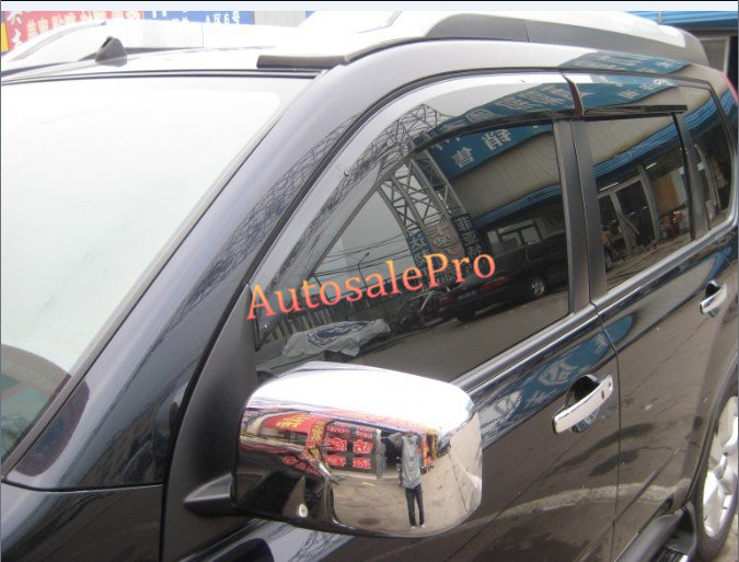 Chrome Rearview Side Door Mirrors Cover Trim For Nissan X-Trail X Trail T31 08 09 10 11 12 2008 2009 2010 2011 2012 2013 6pcs set car accessories matt abs front air vent frame cover trim for nissan xtrail x trail 2008 2009 2010 2011 2012 2013