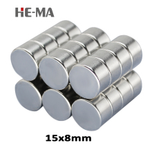 5pcs 15 x 8mm N35 Mini Powerful Magnet Rare Earth Permanent Small Round Strong Neodymium Magents