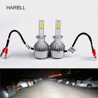 HARBLL 2 C6 AUTO LED LIGHTS 36W 3800LM IP68 H1 3000 4300 6000K Yellow Warm White