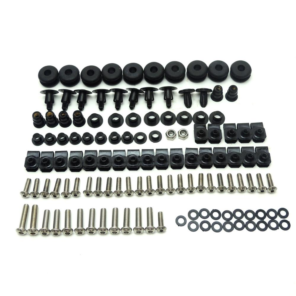 KEMiMOTO Motorcycle YZF R6 Complete Fairing Bolt Screws Kit For Yamaha YZF-R6 1999 2000 2001 2002 Accessories