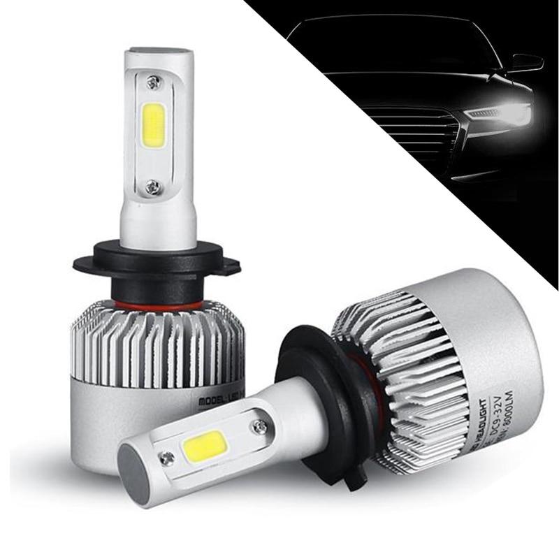 S2 COB H7 LED Headlight 72 W 8000LM Todo En Un Coche Bombilla LED Faros Faros An