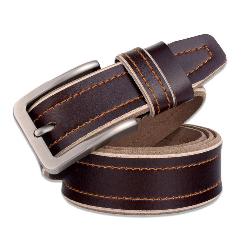 Factory Outlet Brand Design Belt New Fashion High Quality Male Waistband Men Belts Genuine leather Belt Men Strap Pin Buckle