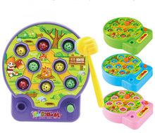 BOHS Baby Whac-A-Mole Mole Hamster Attack Poke A Mole Electronic Music Kids Family Game Toy(China)