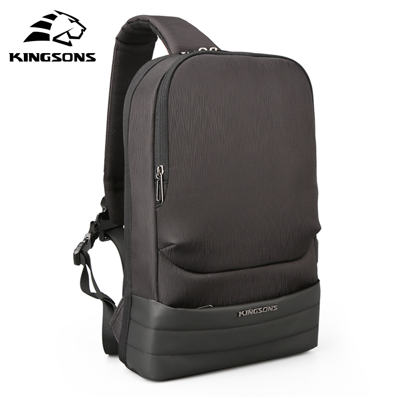 KINGSONS 13 3 inch High Quality Chest Backpack For Men Female Casual Crossbody School Bag Casual