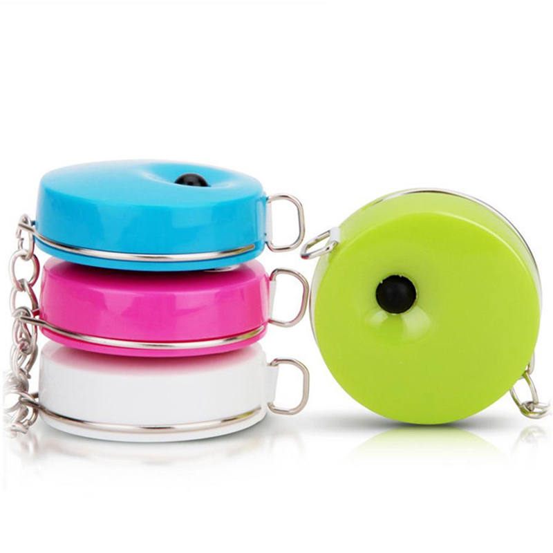 Tape Measure Four Color Ornament With Ruler 1.5 M Mini Practical Automatic For Recycling