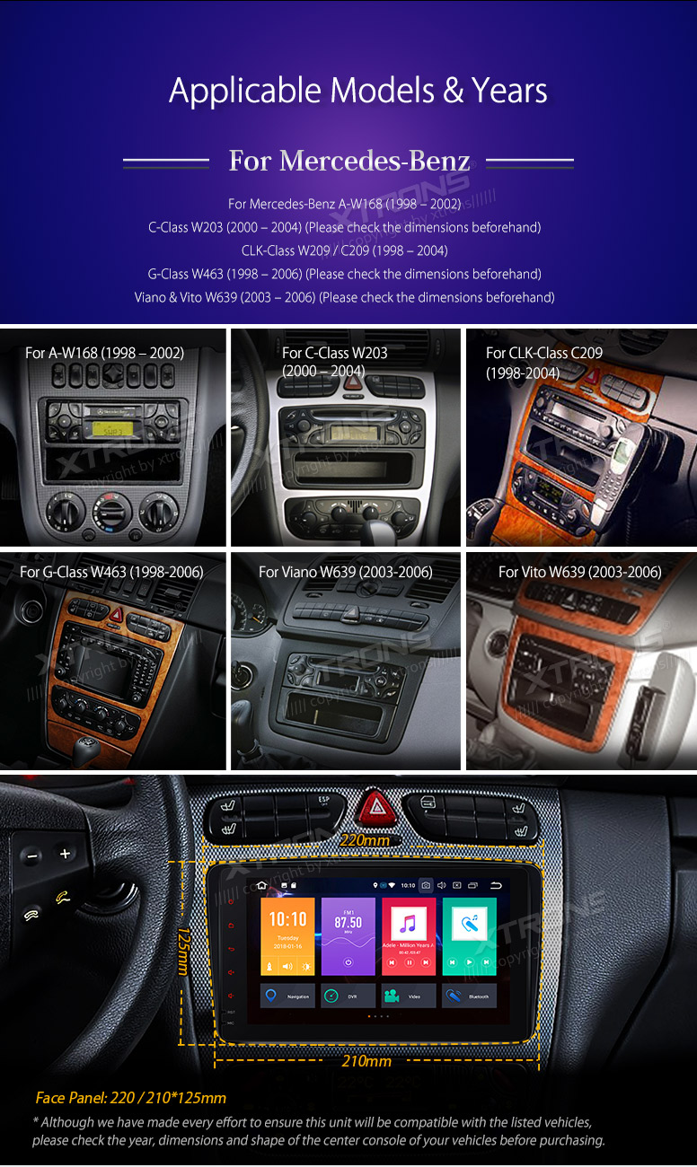 Xtrons Android 80 Radio Car Dvd Player For Mercedes Benz Viano Vito Vauxhall Can Bus Wiring Pe88m203pl 01 02 03 04