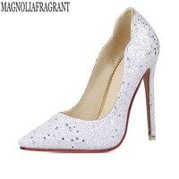 2018 new Women Pumps Bling High Heels Women Pumps Glitter High Heel Shoes Woman Sexy Wedding Party Shoes women shoes r03